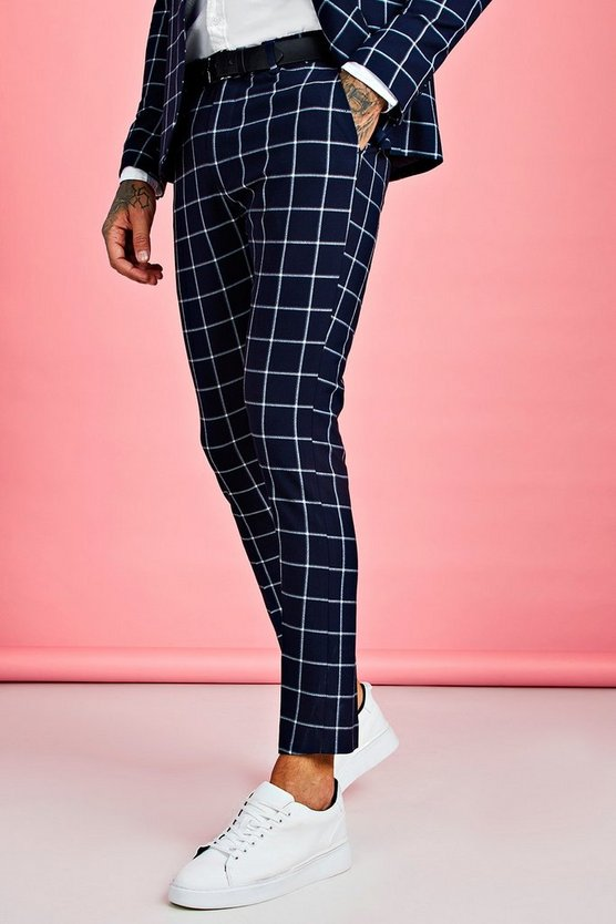 large-scale-windowpane-check-suit-trouser by boohoo