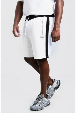 Big & Tall Shorts panelados MAN, Blanco, Hombre