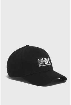 Mens Black BHM Embroidered Cap