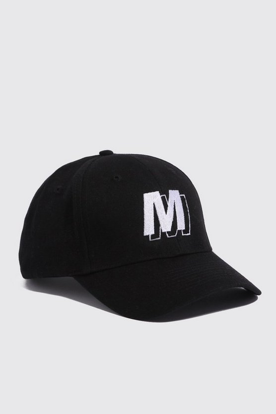 Mens White M Shadow Embroidered Cap