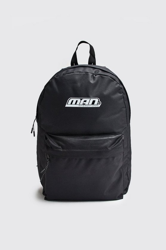 Black Man International Print Backpack