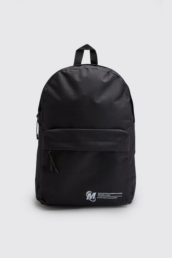 Black Man Official Pocket Print Nylon Backpack