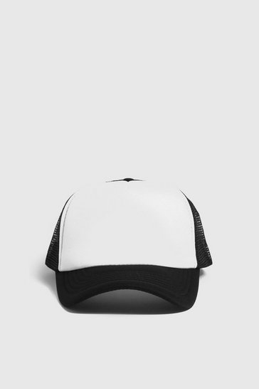Mens White Foam Fronted Mesh Back Trucker Cap