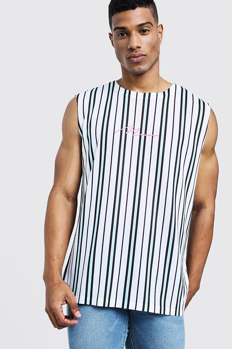 Camiseta a rayas de tirantes