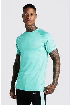 Mens Aqua MAN Active Muscle Fit Raglan Tee