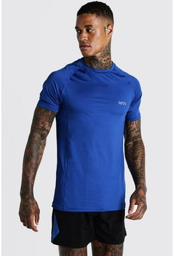 Herr Cobalt MAN Active Muscle Fit Raglan Tee