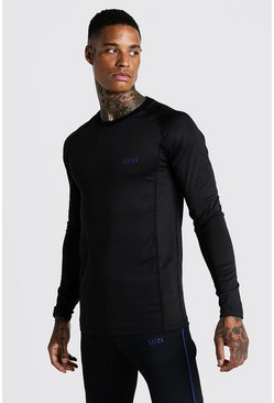 Mens Cobalt MAN Active Muscle Fit Long Sleeve Tee