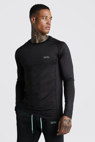 Mens Aqua MAN Active Muscle Fit Long Sleeve Tee