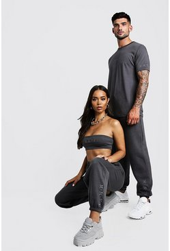 Herr Charcoal His Washed T-Shirt & Jogger Set