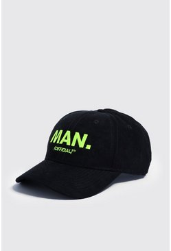 Mens Neon Embroidery MAN Official Cap