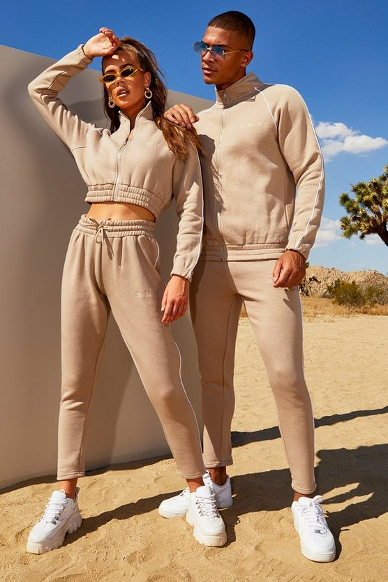 Hers Funnel Neck Tracksuit With Contrast Piping by Boohoo
