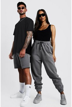 Womens Charcoal Hers Bodysuit & Jogger Set