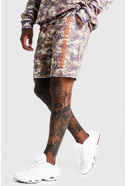 "Mittellange Shorts mit ""International""-Wüsten-Camouflage-Print, Herren"