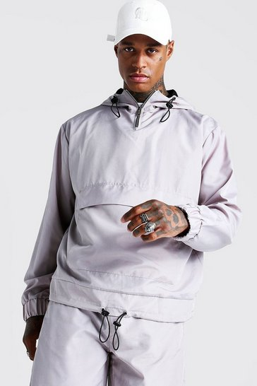 Mens Stone Placement Print Over The Head Cagoule
