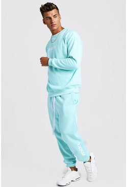 Mens Aqua MAN Season 1 Loose Fit Sweater Tracksuit