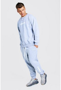 MAN Season 1 Loose-Fit Sweatshirt-Trainingsanzug, Grau