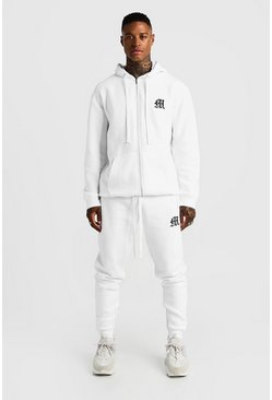 Herr White MAN Aesthetics Skinny Joggers With Zips