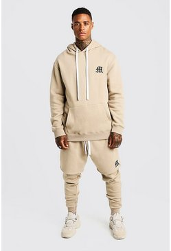 Herr Taupe MAN Aesthetics Heavy Weight Hoodie With Zips