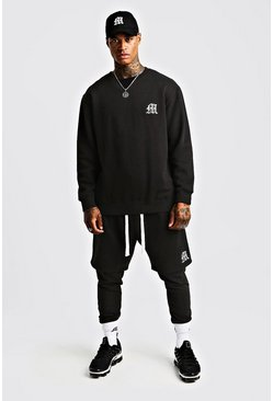 Herr Black MAN Aesthetics Loose Fit Heavy Weight Sweater