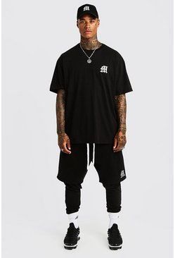 Herr Black MAN Aesthetics Oversized Drop Shoulder T-Shirt