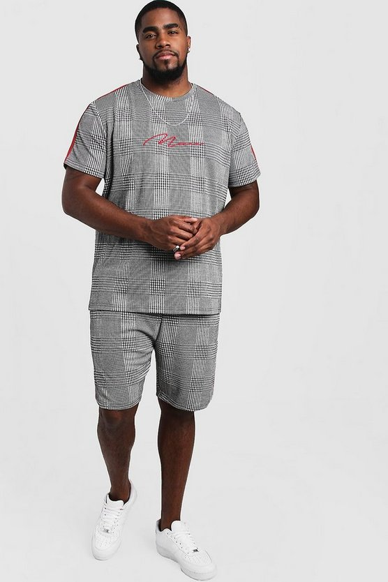 Herr Grey Big & Tall MAN Signature T-Shirt & Short Set