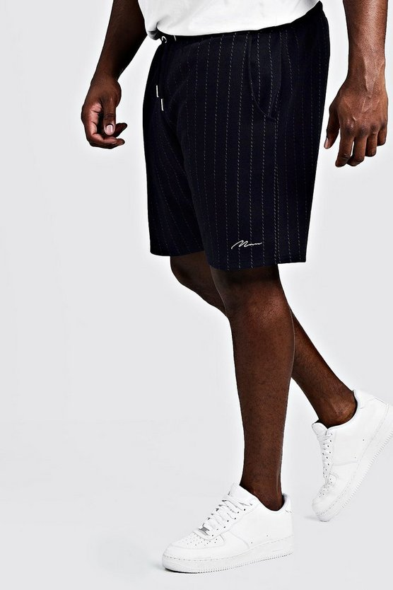 Mens Navy Big & Tall Signature Stripe Short