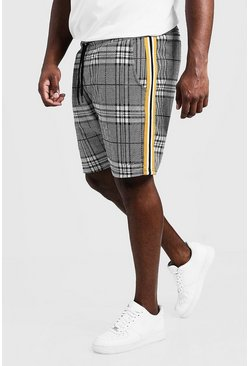 Grey Big & Tall MAN Signature Check Short