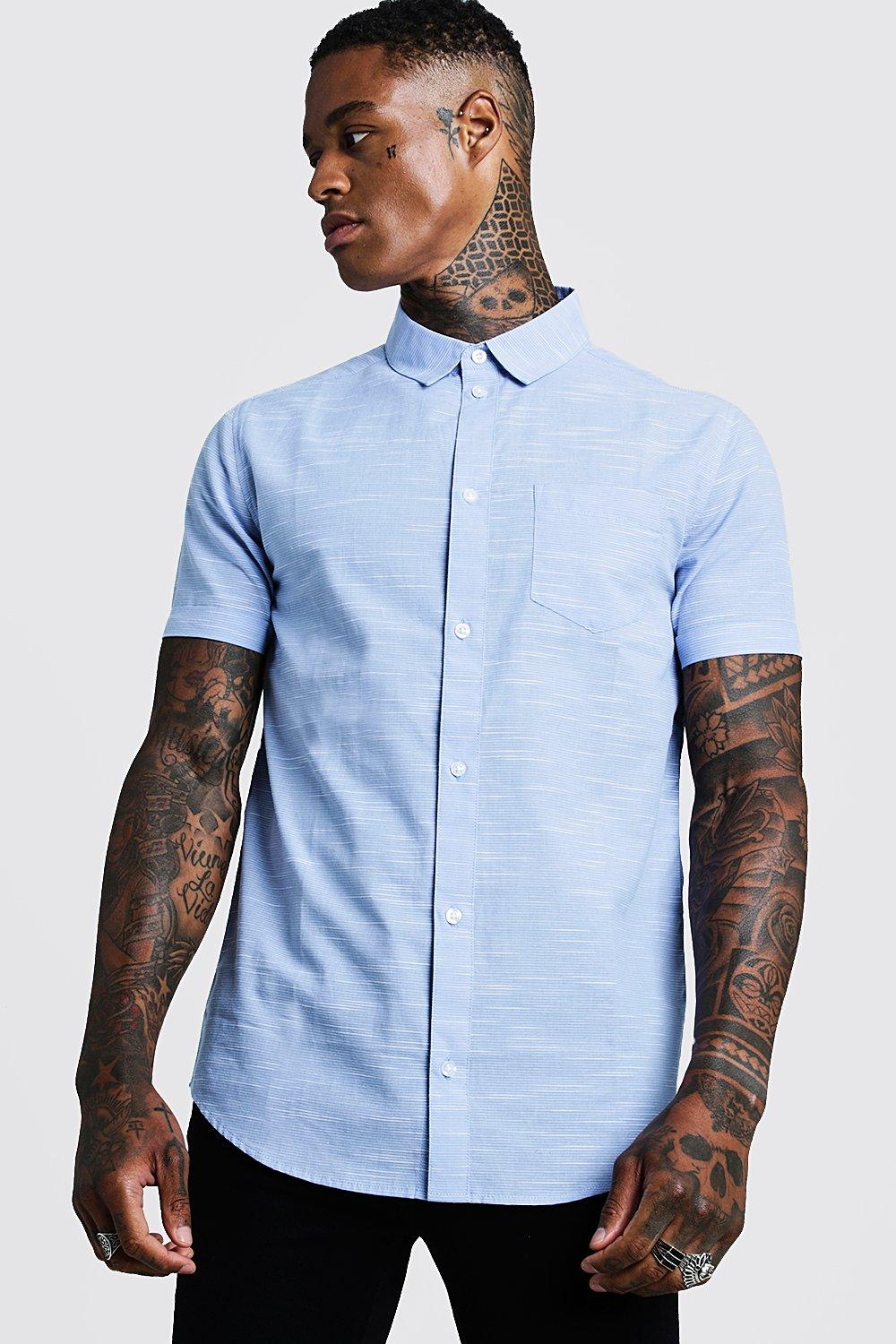 f2394df2fde Vertical Pinstripe Short Sleeve Shirt | Boohoo