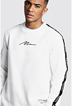 Herr White MAN X Abode Sweater With Tape Detail