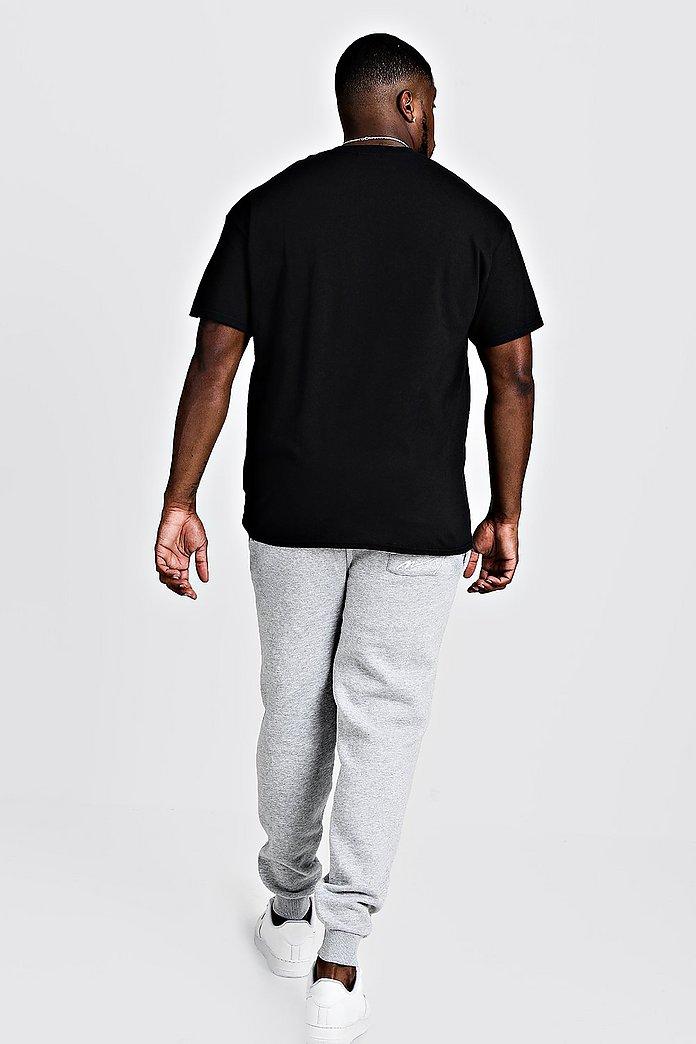 plain black t