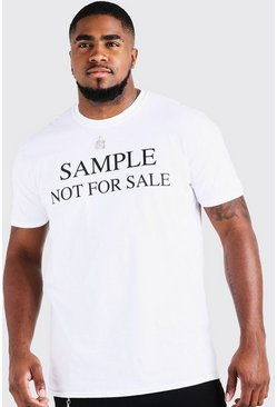 Big & Tall Camiseta con estampado Resale, Blanco, Hombre