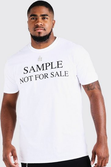 Mens White Big & Tall Resale Print T-Shirt