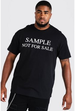 Big & Tall Camiseta con estampado Resale, Negro, Hombre