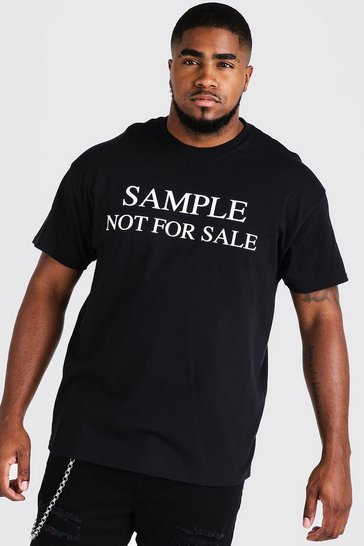 Mens Black Big & Tall Resale Print T-Shirt