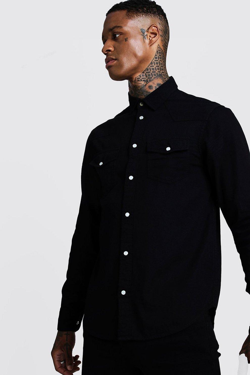 the latest 0172b b49f1 Camicia di jeans a maniche lunghe stile western