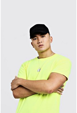 Mens Neon-yellow Neon Crew Neck T-Shirt