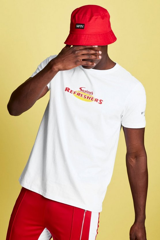 White Swizzels Regular Fit Refresher Print T-Shirt