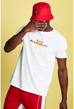 Mens White Swizzels Regular Fit Refresher Print T-Shirt