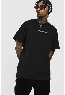 Mens Black Oversized Skrrt Skrrt Tee
