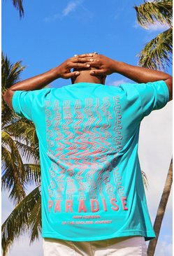 Mens Jade Big & Tall Loose Fit T-Shirt Back Print
