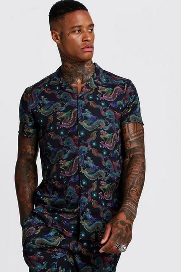 8a19d743e7a63c Mens Printed Shirts - Shop Mens Printed Shirt | boohoo