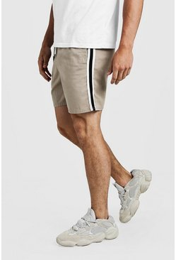 Stone Drawstring Chino Short With Side Tape