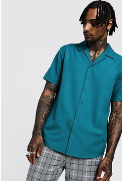 Jade Smart Relaxed Fit Revere Shirt In Short Sleeve