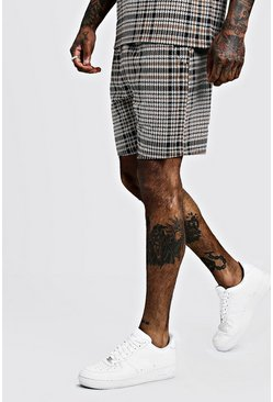 Herr Brown Mid Length Jacquard Short