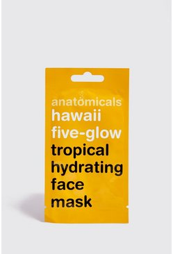 Mens Yellow Tropical Hydrating Face Mask