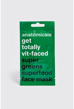 Super Green Superfood Gesichtsmaske, Grün, Herren