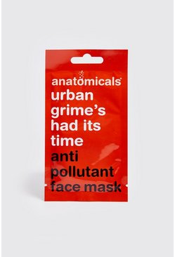 Mens Orange Anti-Pollutant Face Mask