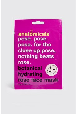 Mens Pink Botanical Hydrating Rose Face Mask