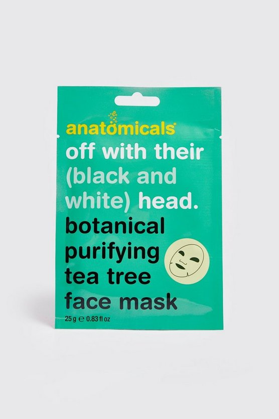 Mens Green Botanical Purifying Tea Tree Face Mask