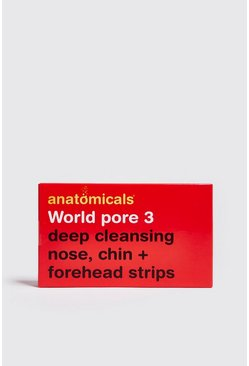 Mens White Deep Cleansing Nose Chin & Forehead Strips